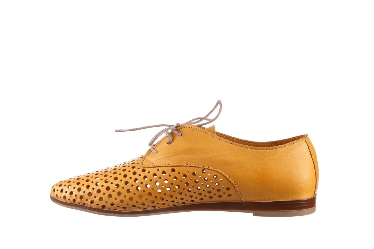 Półbuty bayla-161 138 80129 noce, żółty, skóra naturalna - skórzane - półbuty - buty damskie - kobieta 10