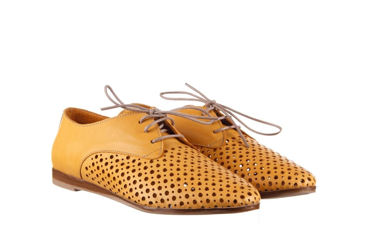 Półbuty bayla-161 138 80129 noce, żółty, skóra naturalna - półbuty - buty damskie - kobieta 9