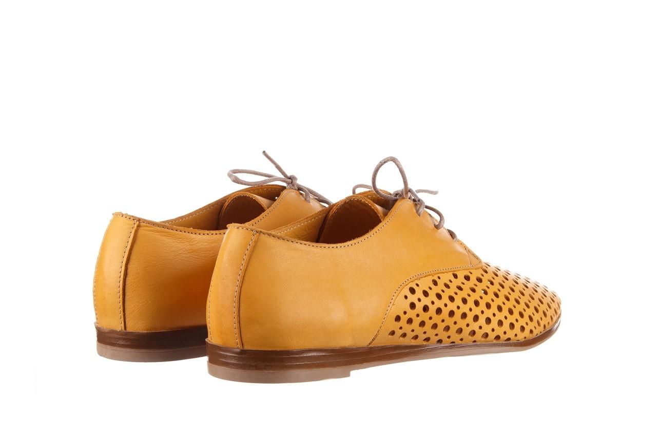 Półbuty bayla-161 138 80129 noce, żółty, skóra naturalna - skórzane - półbuty - buty damskie - kobieta 11