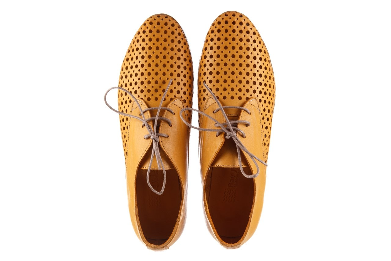Półbuty bayla-161 138 80129 noce, żółty, skóra naturalna - półbuty - buty damskie - kobieta 12