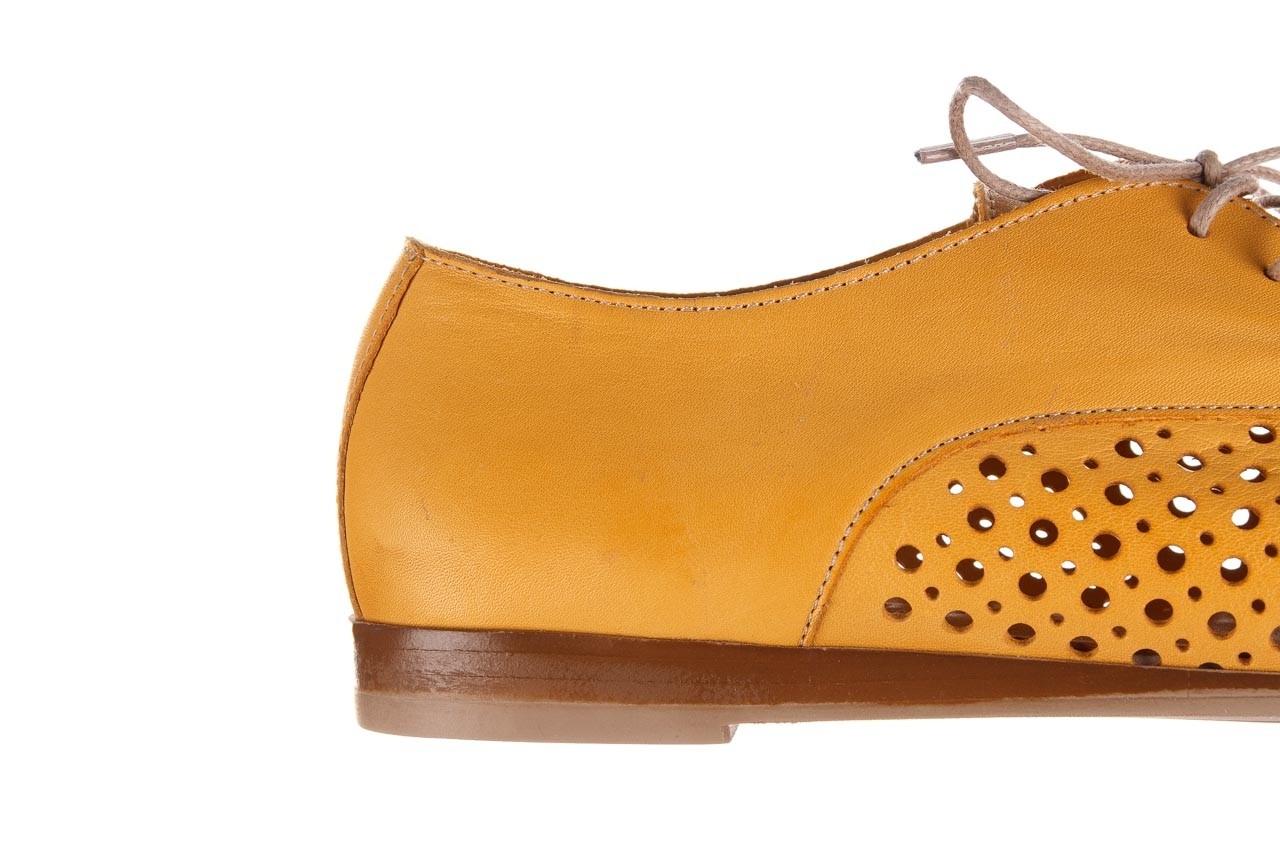 Półbuty bayla-161 138 80129 noce, żółty, skóra naturalna - skórzane - półbuty - buty damskie - kobieta 15
