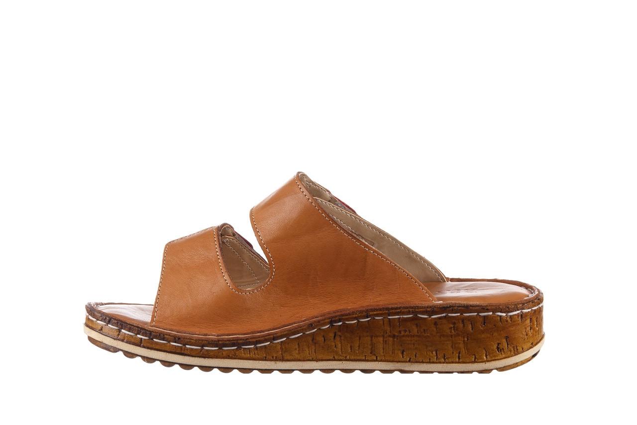 Klapki bayla-161 016 109 tan brown taupe 21 161186, brąz, skóra naturalna  - klapki - buty damskie - kobieta 10