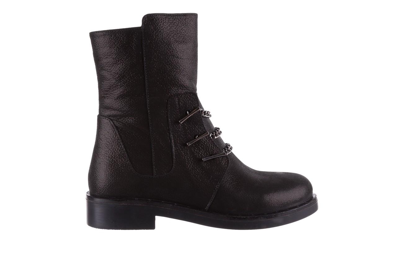Trzewiki bayla-112 0460-800 czarne trzewiki, skóra naturalna - worker boots - trendy - kobieta 10
