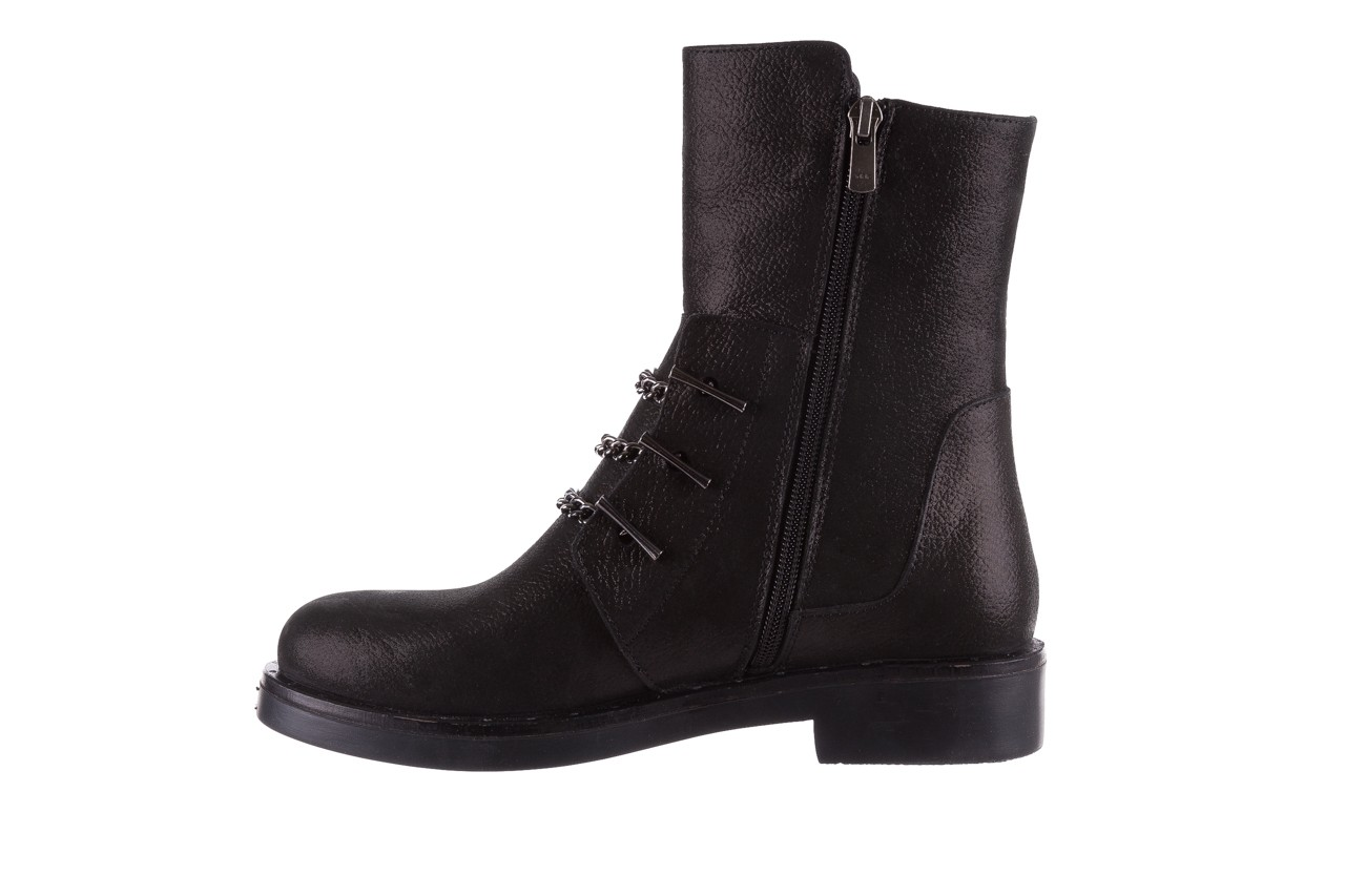 Trzewiki bayla-112 0460-800 czarne trzewiki, skóra naturalna - worker boots - trendy - kobieta 12