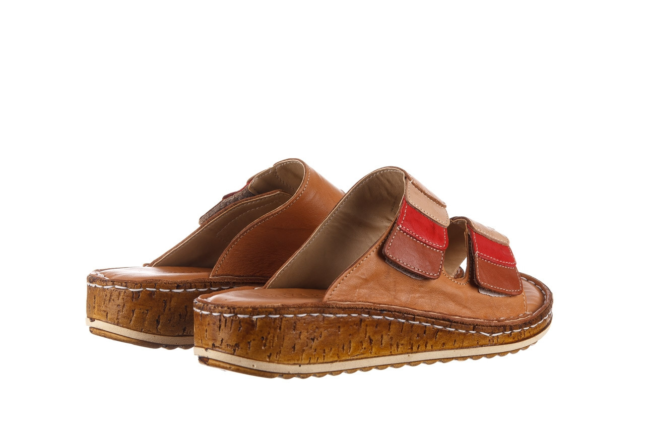 Klapki bayla-161 016 109 tan brown taupe 21 161186, brąz, skóra naturalna  - klapki - buty damskie - kobieta 11