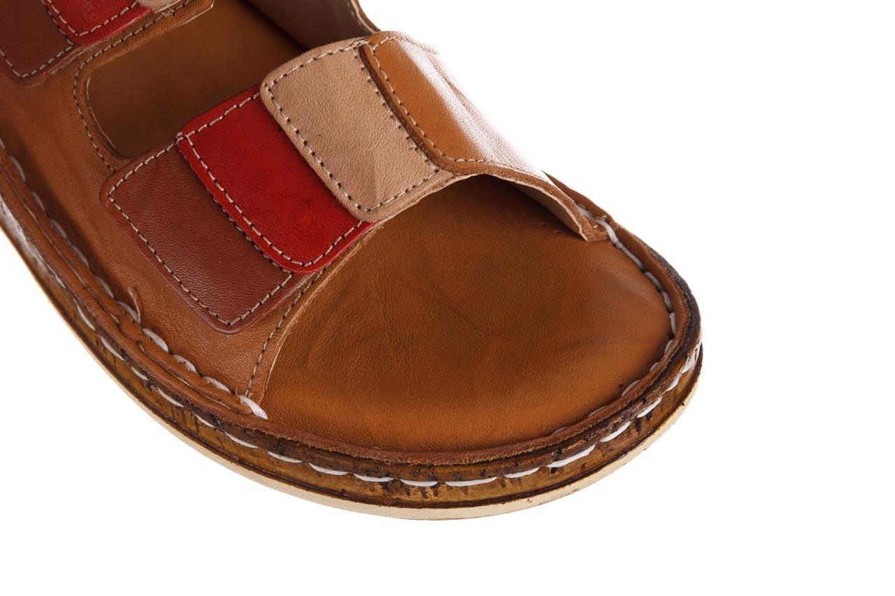 Klapki bayla-161 016 109 tan brown taupe, brąz, skóra naturalna  - klapki - dla niej  - sale 13