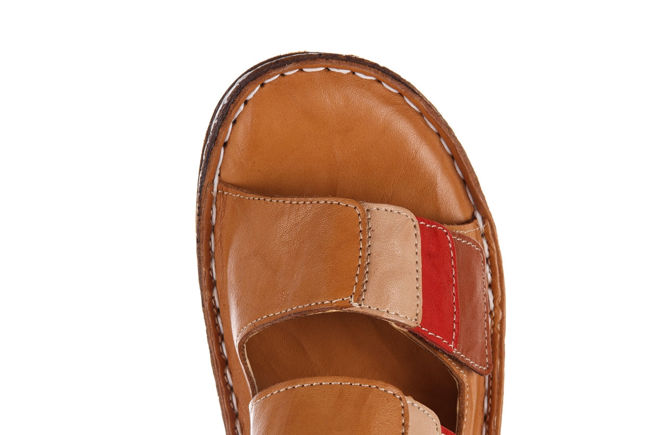 Klapki bayla-161 016 109 tan brown taupe 21 161186, brąz, skóra naturalna  - klapki - buty damskie - kobieta 14