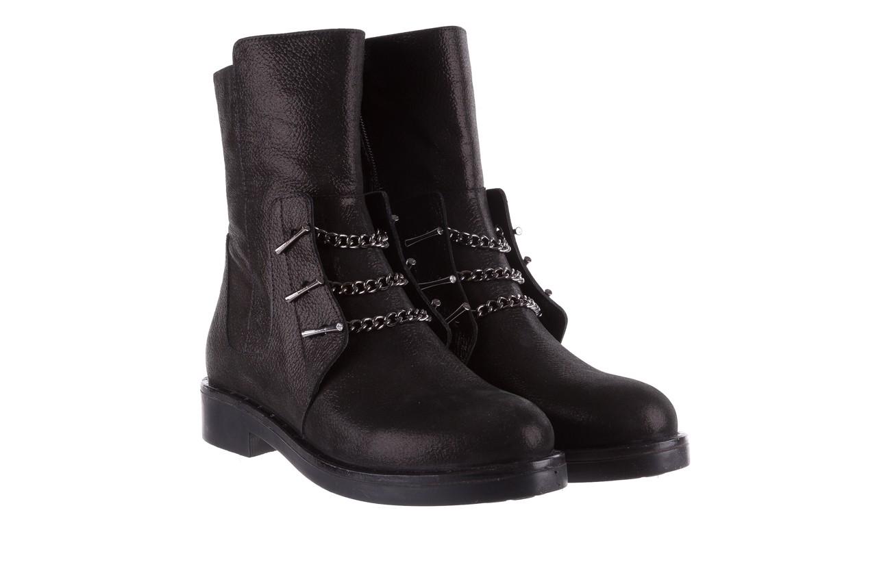 Trzewiki bayla-112 0460-800 czarne trzewiki, skóra naturalna - worker boots - trendy - kobieta 11