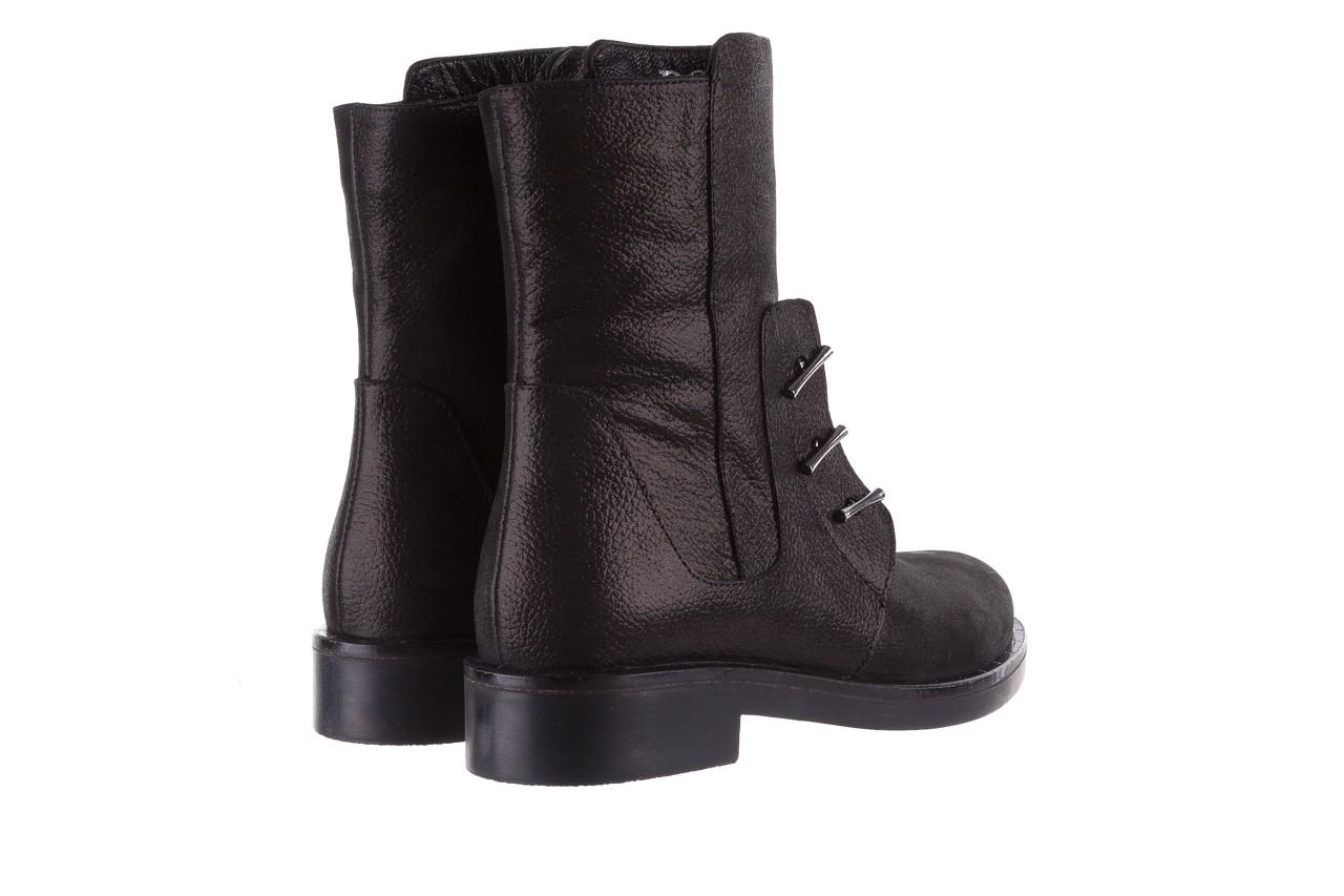 Trzewiki bayla-112 0460-800 czarne trzewiki, skóra naturalna - worker boots - trendy - kobieta 13