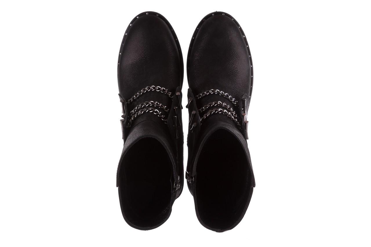 Trzewiki bayla-112 0460-800 czarne trzewiki, skóra naturalna - worker boots - trendy - kobieta 14