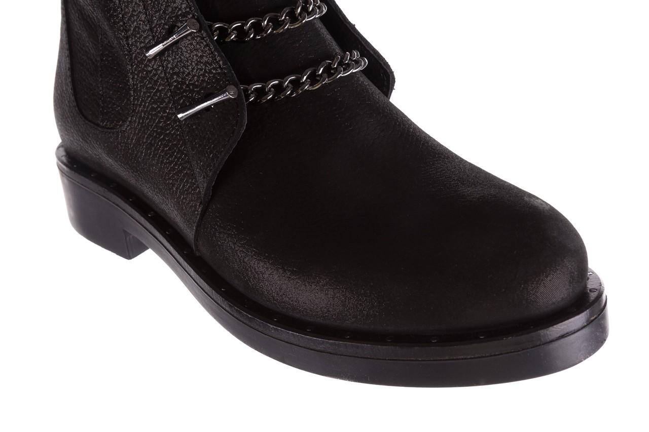 Trzewiki bayla-112 0460-800 czarne trzewiki, skóra naturalna - worker boots - trendy - kobieta 18