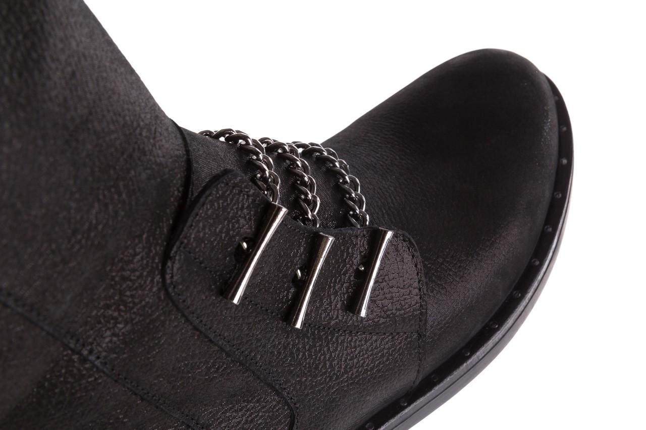 Trzewiki bayla-112 0460-800 czarne trzewiki, skóra naturalna - worker boots - trendy - kobieta 15