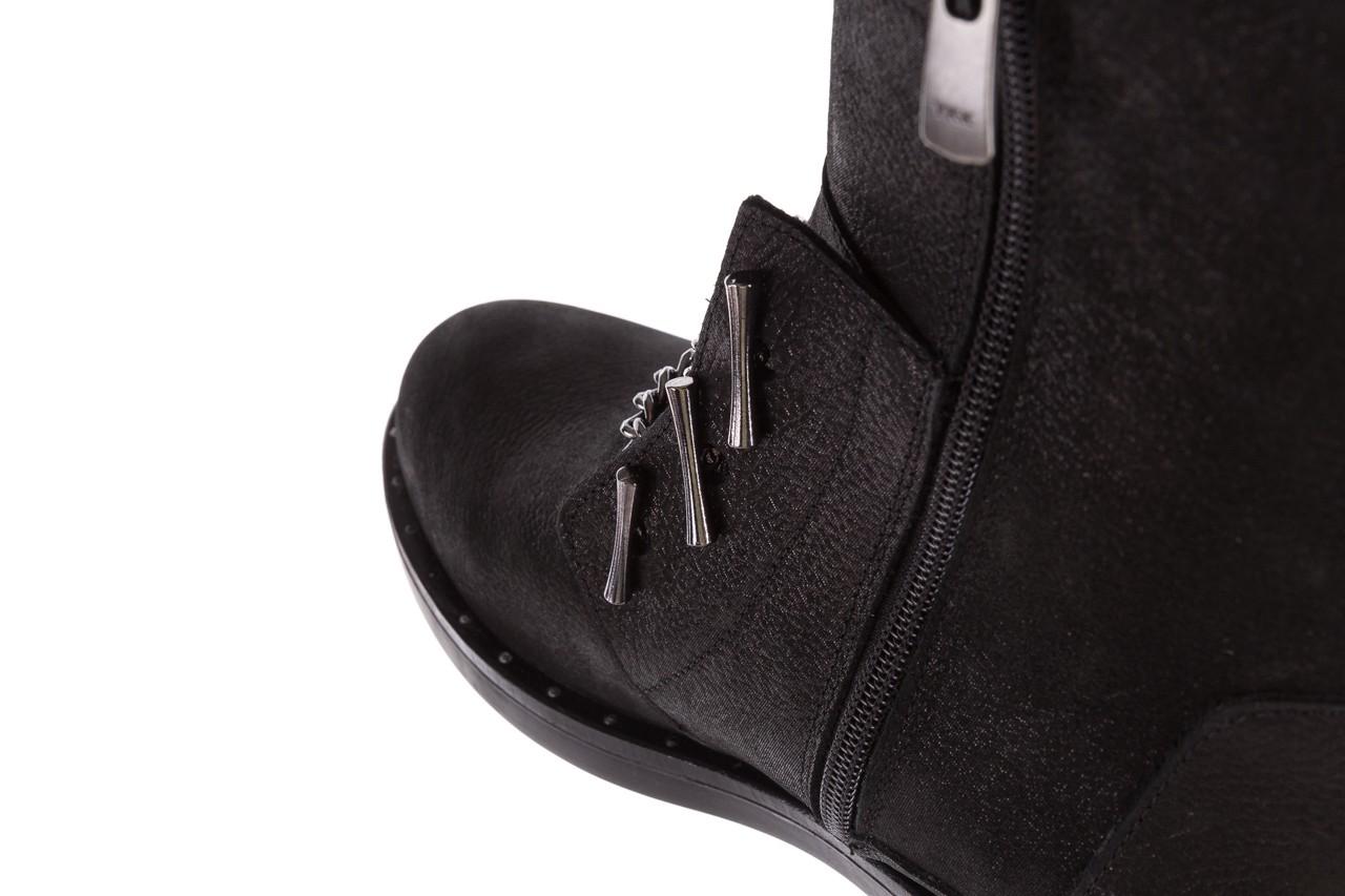 Trzewiki bayla-112 0460-800 czarne trzewiki, skóra naturalna - worker boots - trendy - kobieta 17