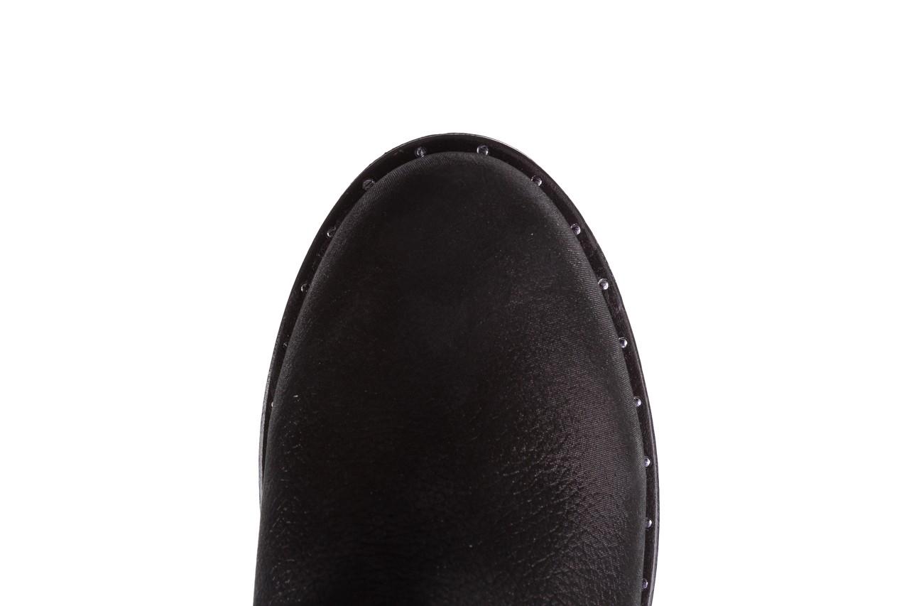Trzewiki bayla-112 0460-800 czarne trzewiki, skóra naturalna - worker boots - trendy - kobieta 19