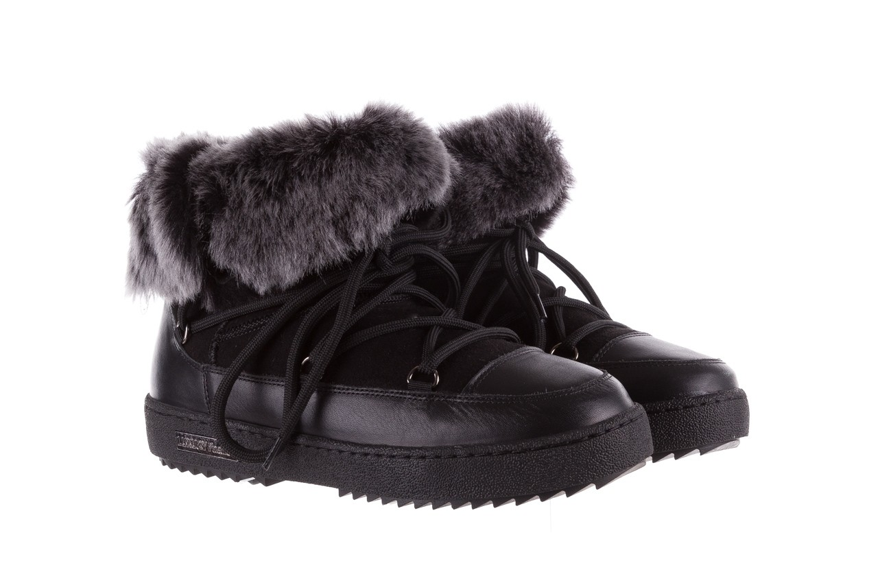 Śniegowce bayla-112 0575-9013s czarne śniegowce, skóra naturalna  - śniegowce i kalosze - dla niej  - sale 9