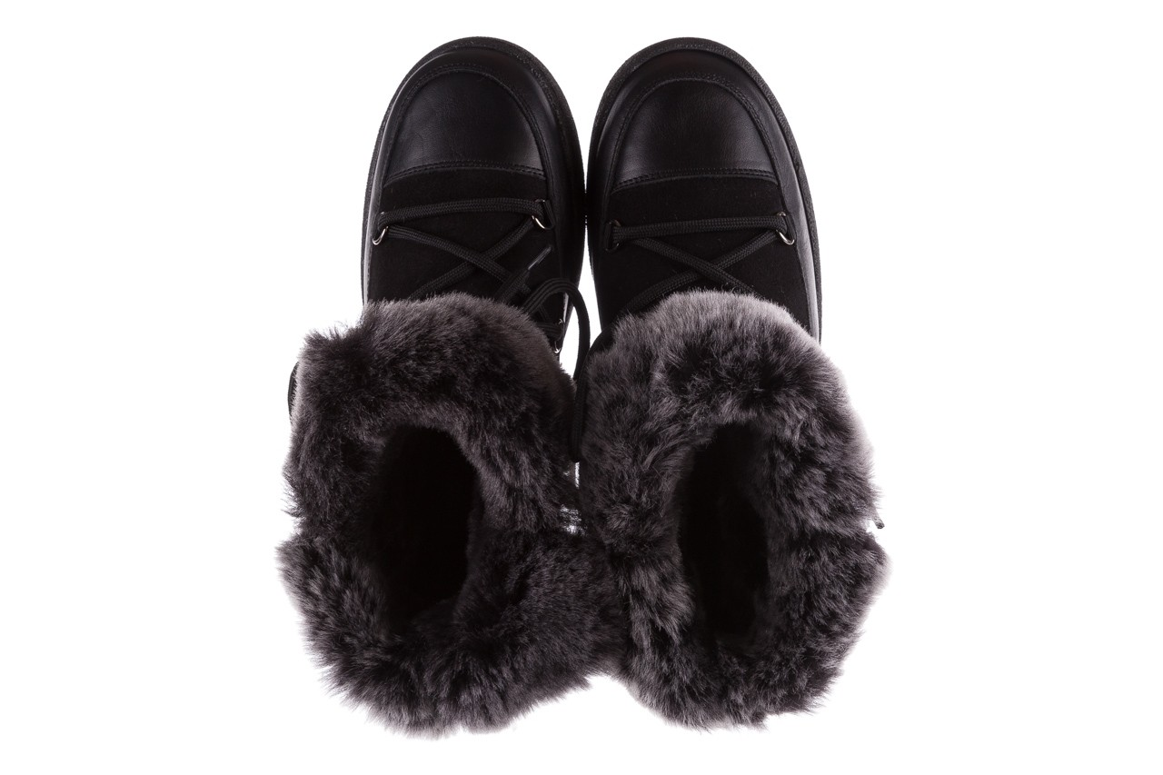 Śniegowce bayla-112 0575-9013s czarne śniegowce, skóra naturalna  - śniegowce i kalosze - dla niej  - sale 12