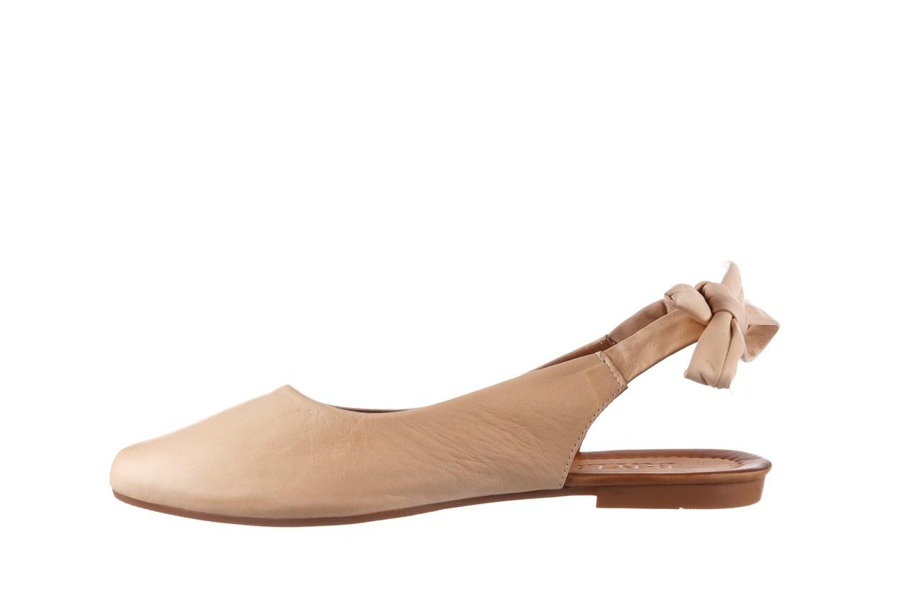 Sandały bayla-161 066 504 277 beige, beż, skóra naturalna  - płaskie - sandały - buty damskie - kobieta 10