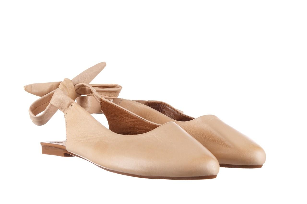 Sandały bayla-161 066 504 277 beige, beż, skóra naturalna  - płaskie - sandały - buty damskie - kobieta 9
