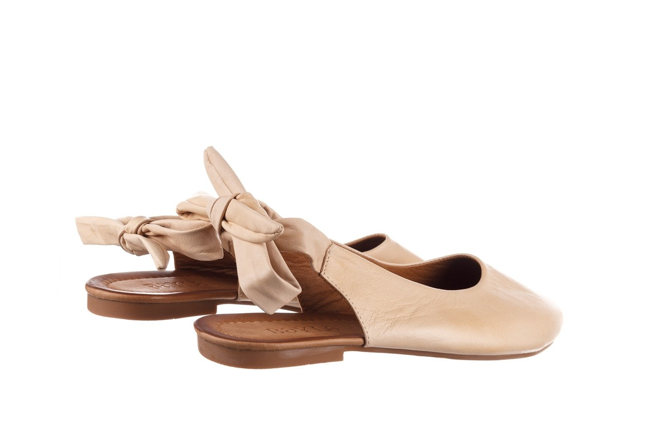 Sandały bayla-161 066 504 277 beige, beż, skóra naturalna  - płaskie - sandały - buty damskie - kobieta 11