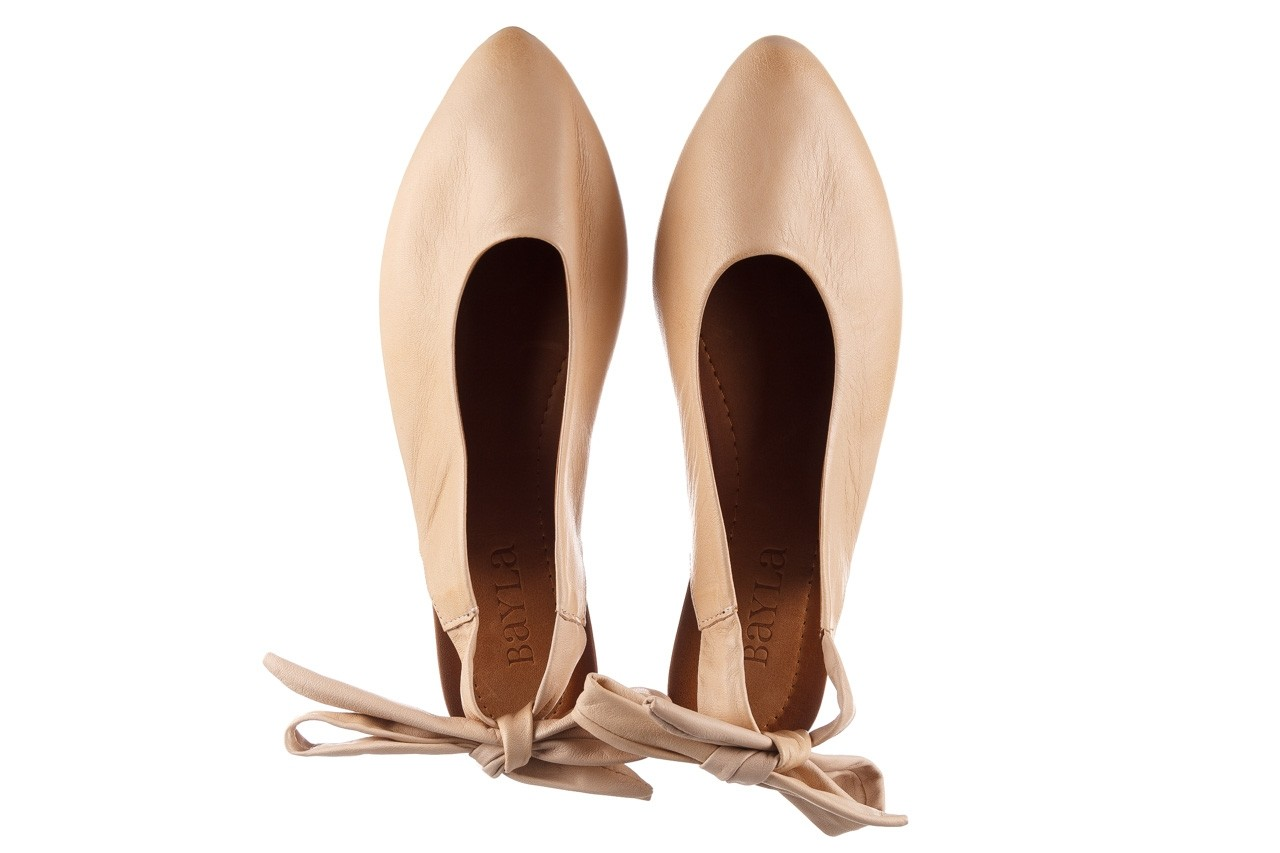 Sandały bayla-161 066 504 277 beige, beż, skóra naturalna  - płaskie - sandały - buty damskie - kobieta 12