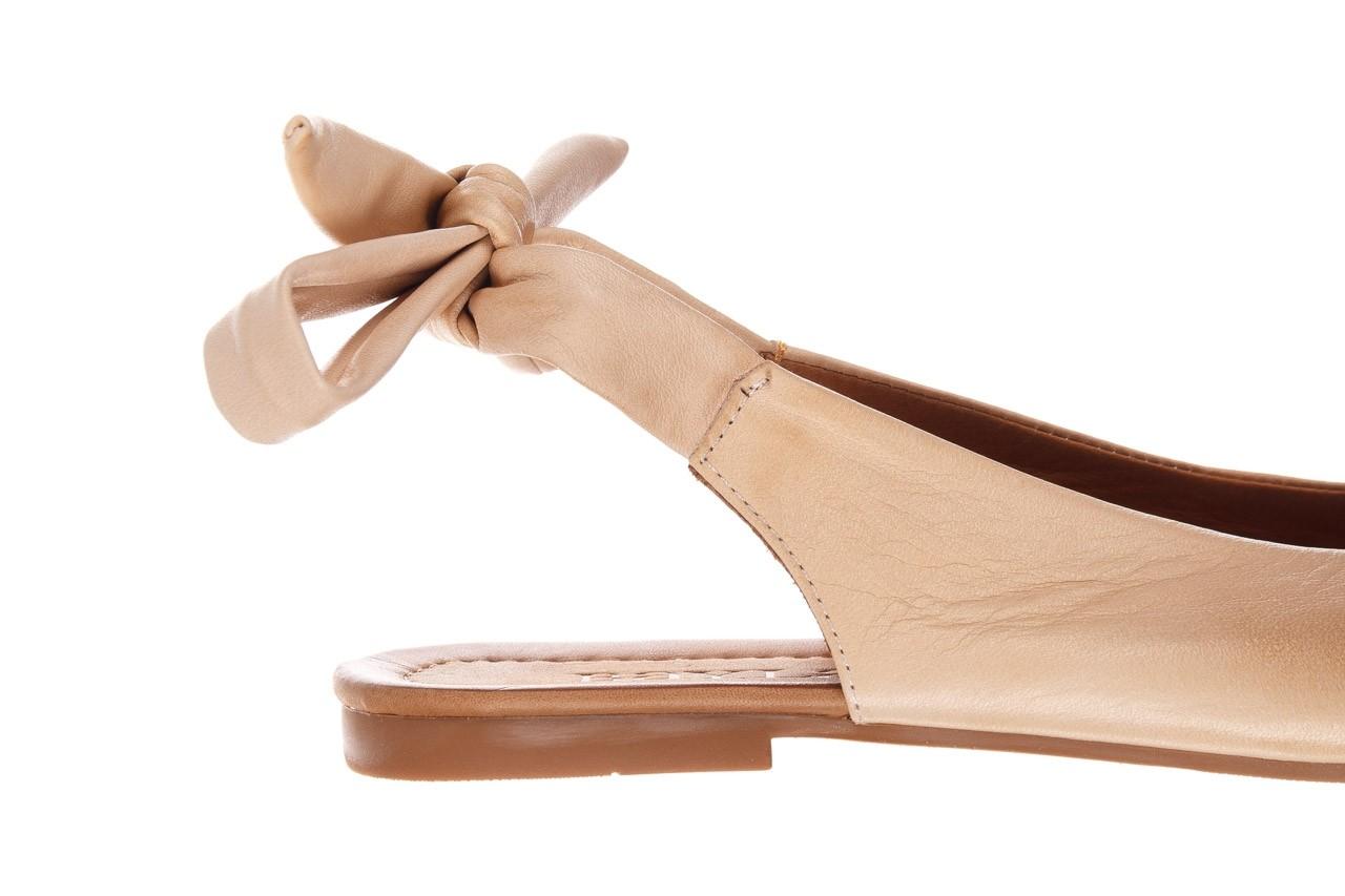 Sandały bayla-161 066 504 277 beige, beż, skóra naturalna  - płaskie - sandały - buty damskie - kobieta 14