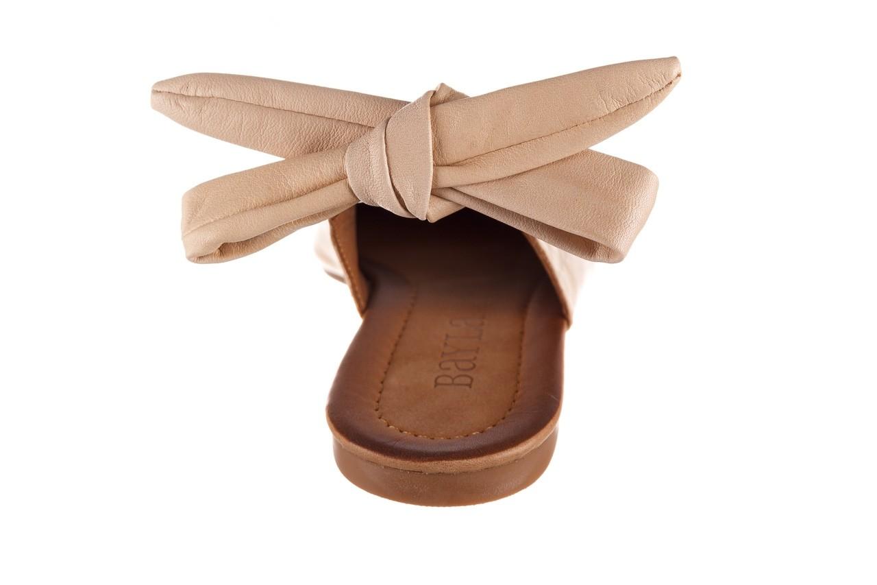 Sandały bayla-161 066 504 277 beige, beż, skóra naturalna  - płaskie - sandały - buty damskie - kobieta 15