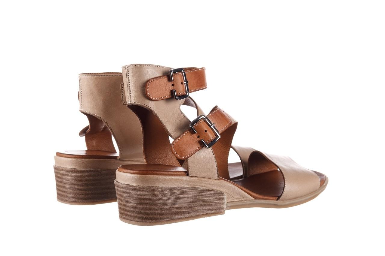 Sandały bayla-161 061 1605 mouton tan, beż, skóra naturalna - koturny - buty damskie - kobieta 11