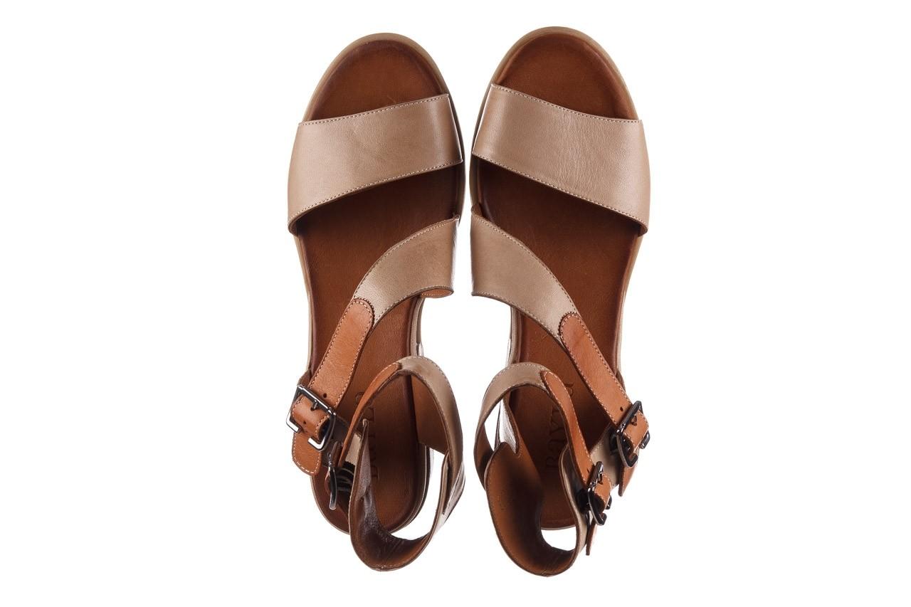 Sandały bayla-161 061 1605 mouton tan, beż, skóra naturalna - koturny - buty damskie - kobieta 12
