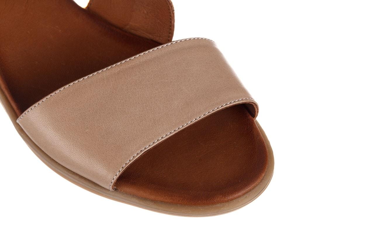 Sandały bayla-161 061 1605 mouton tan, beż, skóra naturalna - koturny - buty damskie - kobieta 14