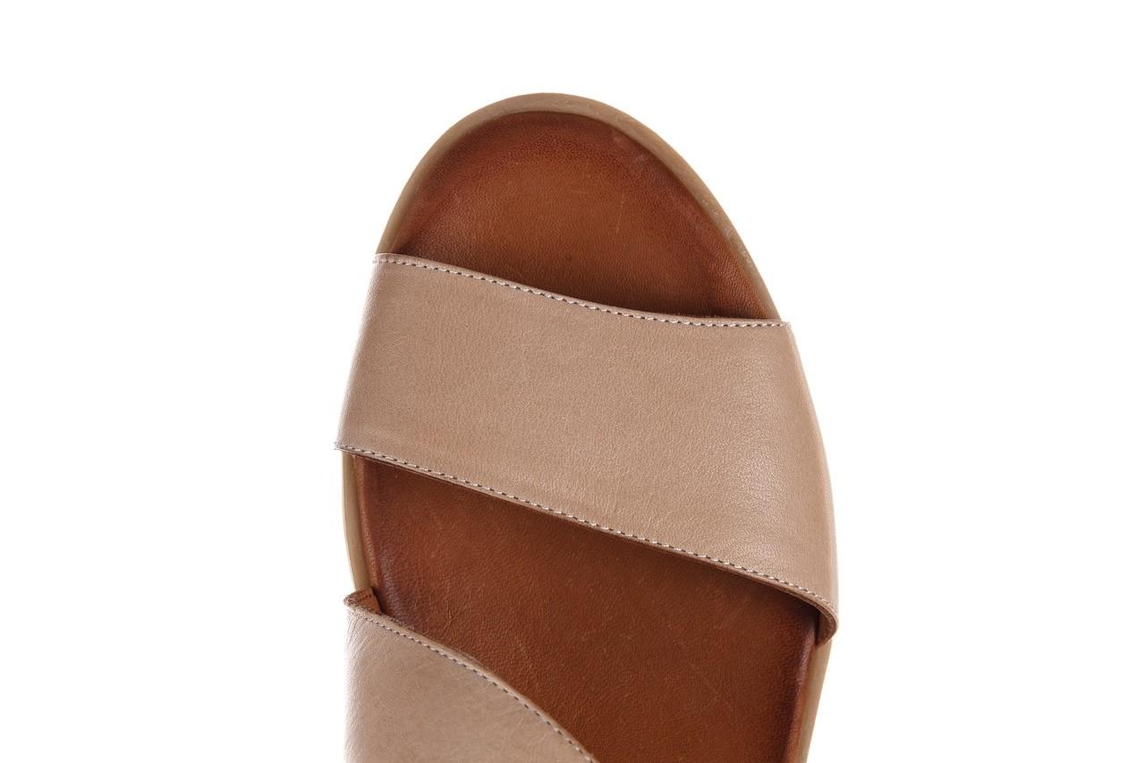 Sandały bayla-161 061 1605 mouton tan, beż, skóra naturalna - koturny - buty damskie - kobieta 13