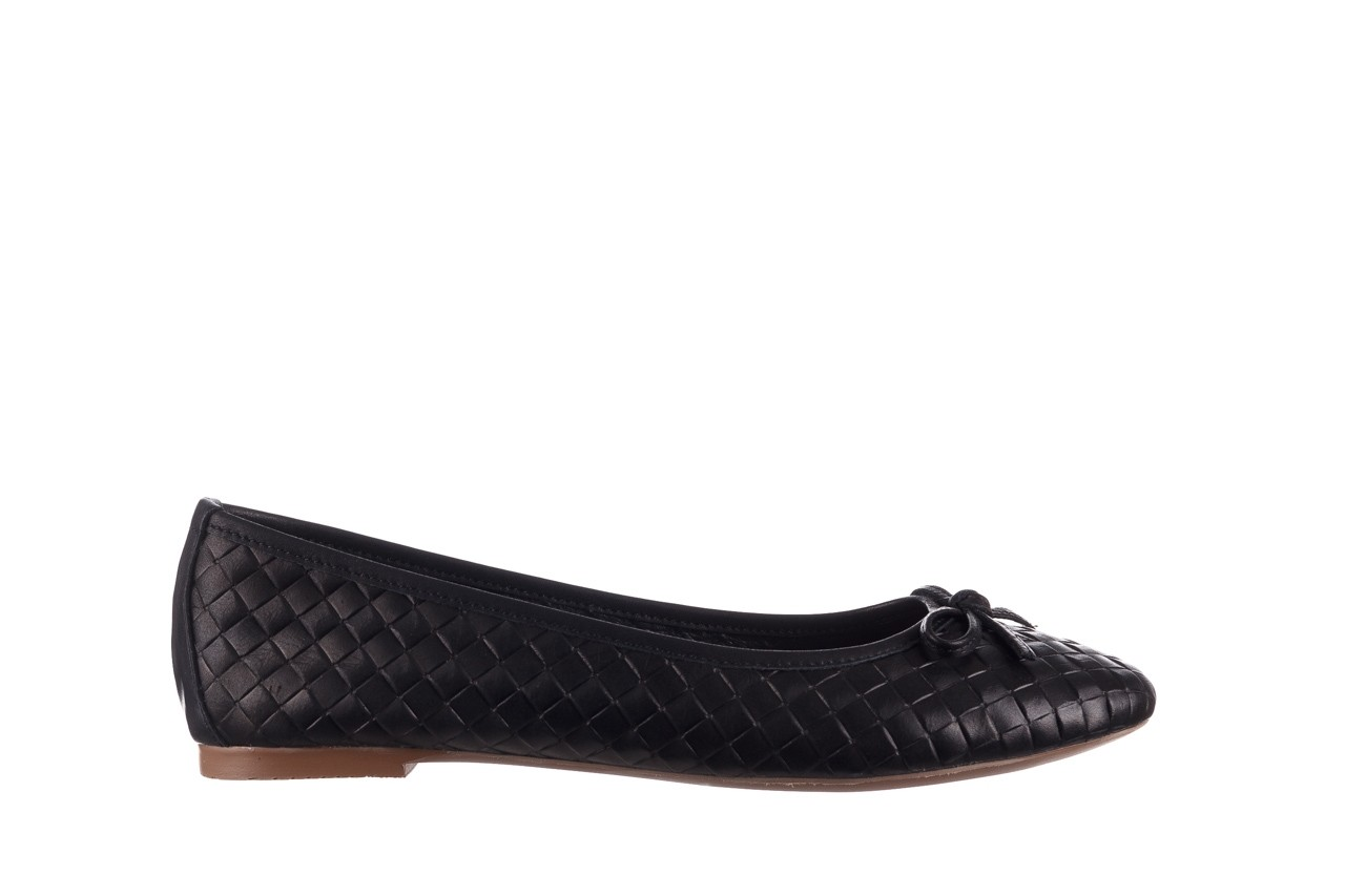 Baleriny bayla-161 093 388 6048 black 161145, czarny, skóra naturalna  - baleriny - buty damskie - kobieta 8