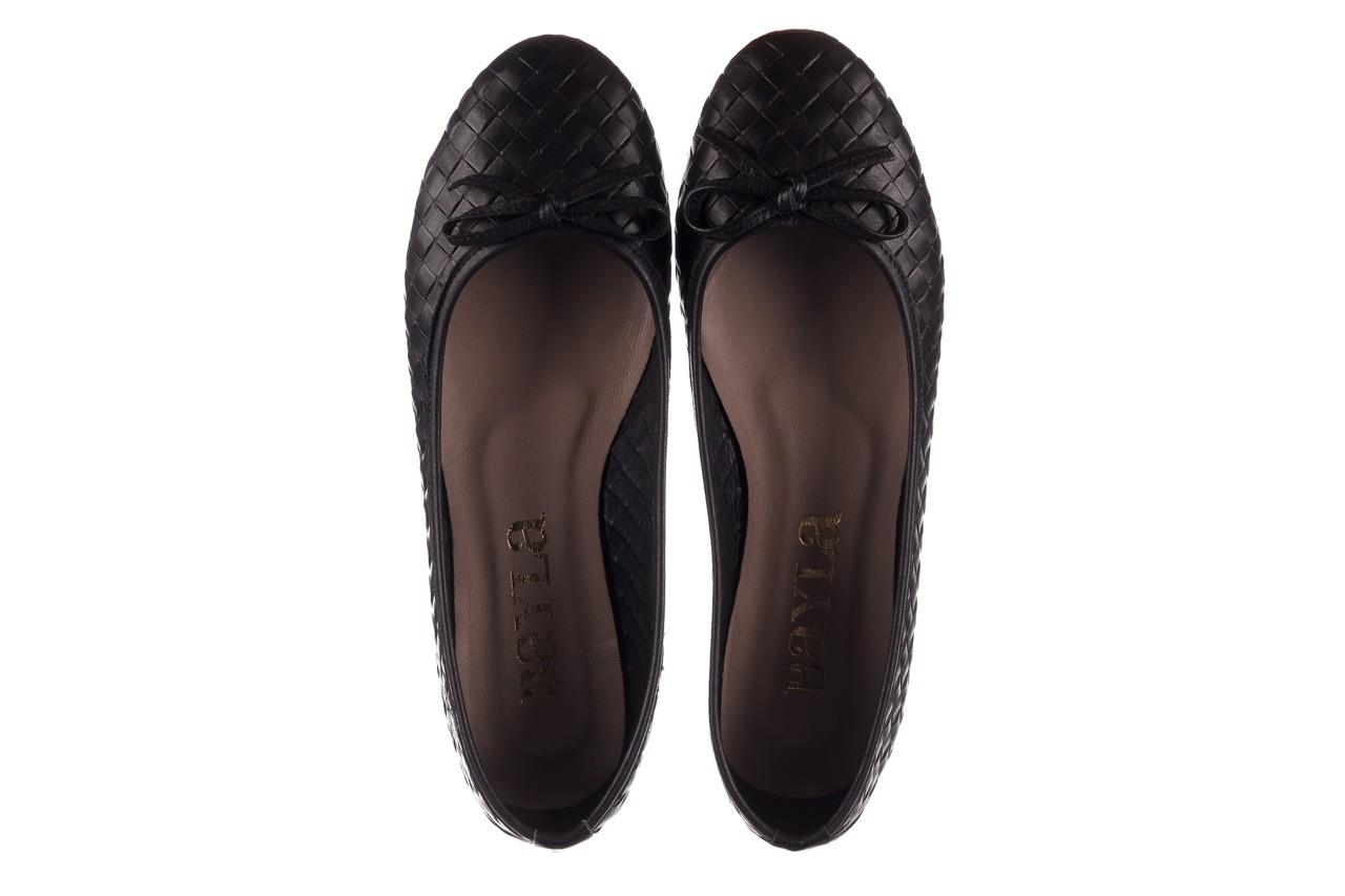Baleriny bayla-161 093 388 6048 black 161145, czarny, skóra naturalna  - baleriny - buty damskie - kobieta 12