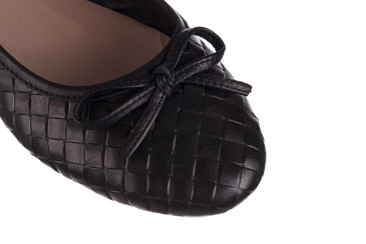 Baleriny bayla-161 093 388 6048 black 161145, czarny, skóra naturalna 13