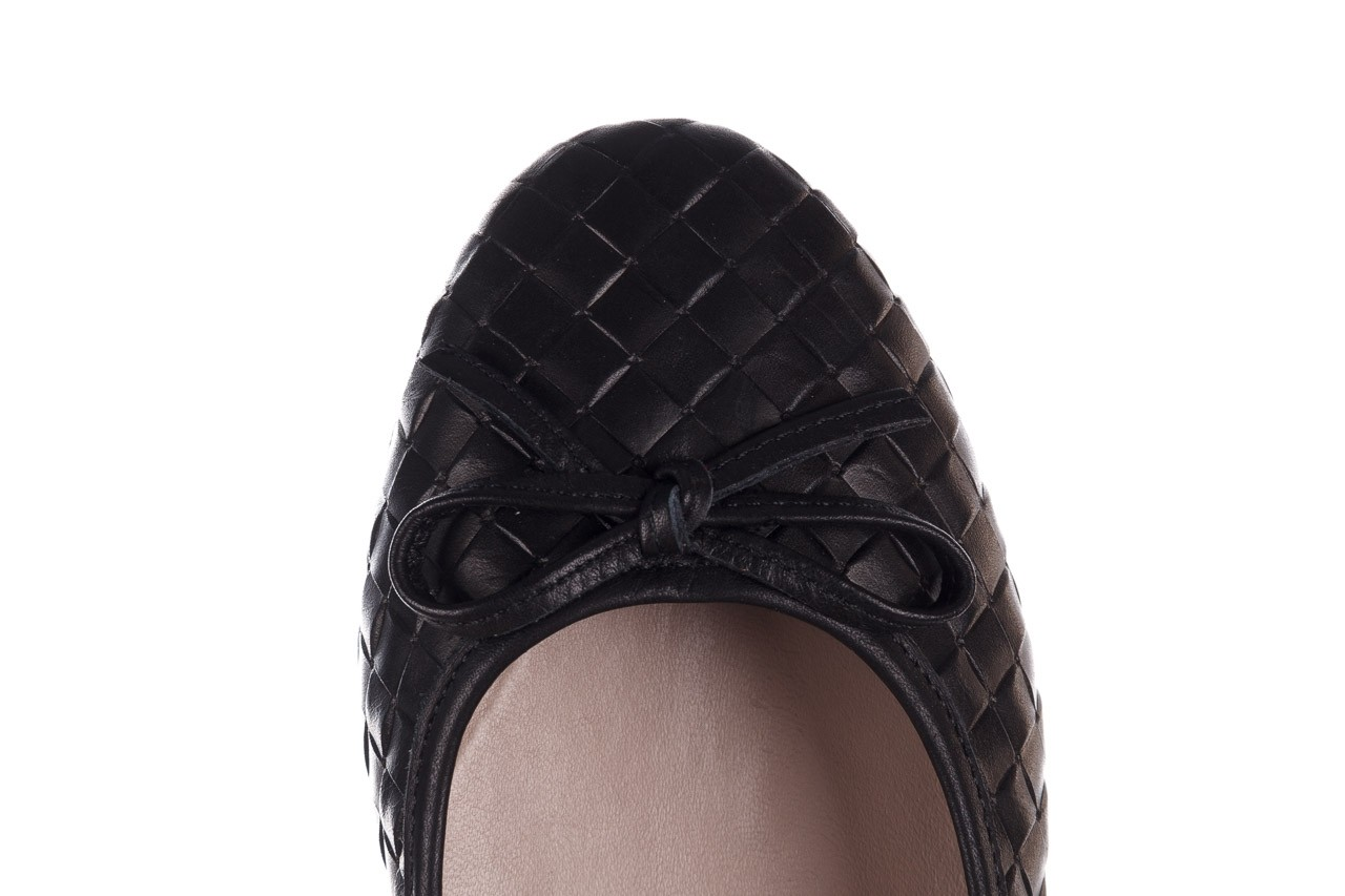 Baleriny bayla-161 093 388 6048 black 161145, czarny, skóra naturalna 15