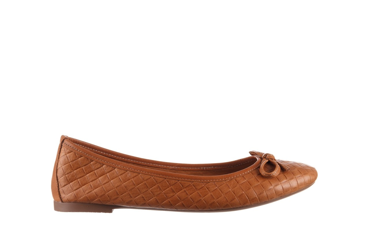 Baleriny bayla-161 093 388 6048 tan 161147, brąz, skóra naturalna  - skórzane - baleriny - buty damskie - kobieta 8