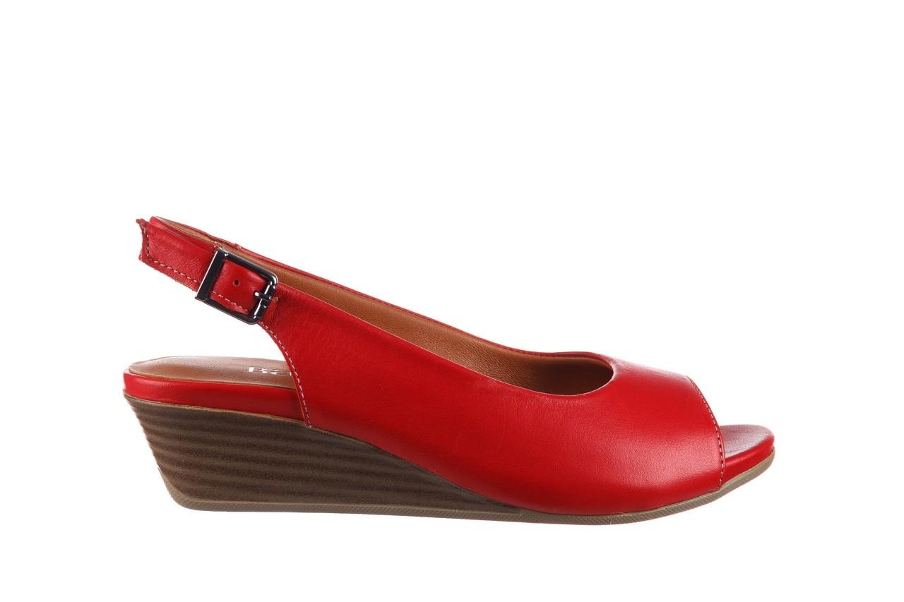 Sandały bayla-161 078 606 3 02 red, czerwony, skóra naturalna 8