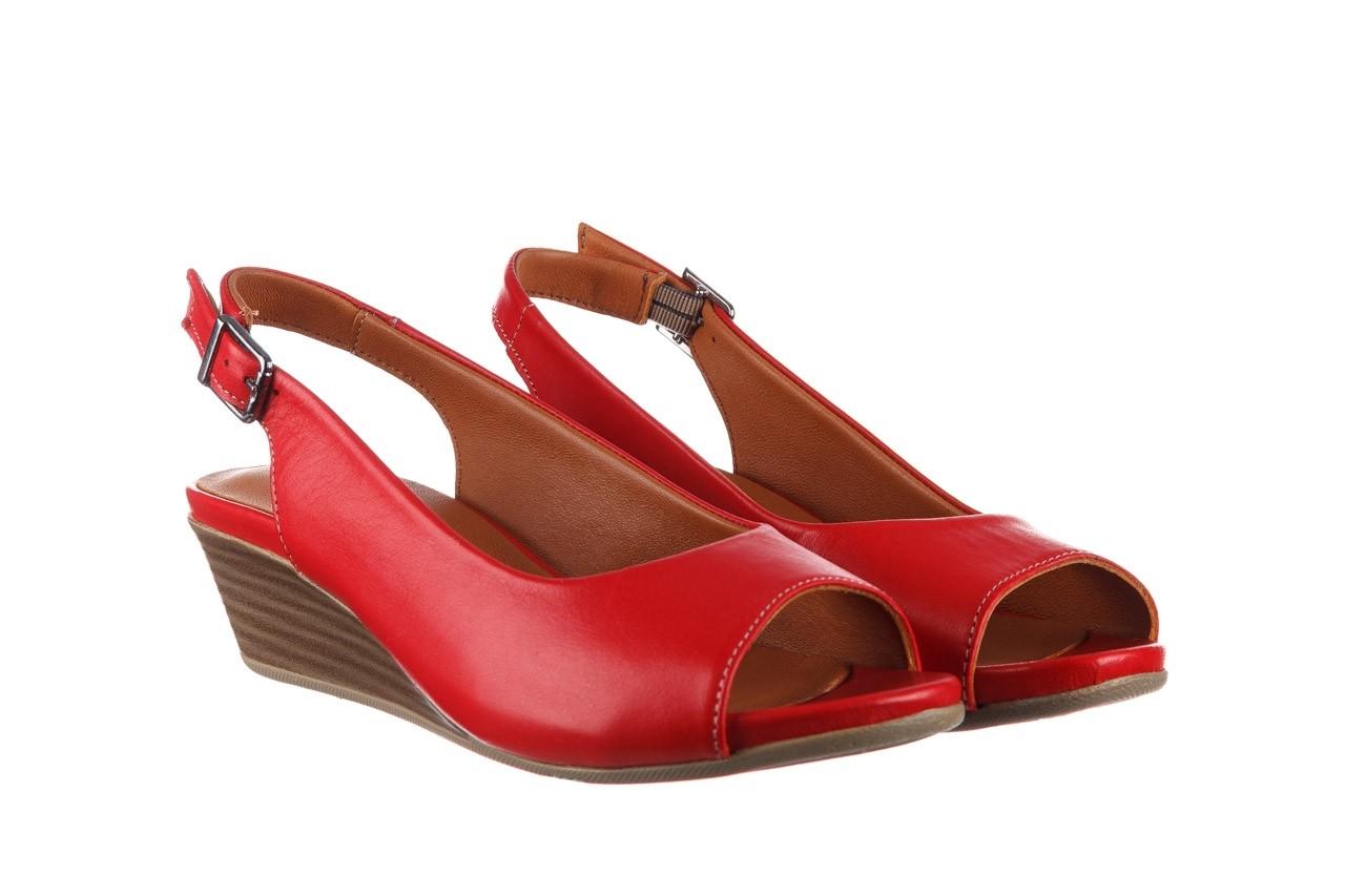 Sandały bayla-161 078 606 3 02 red, czerwony, skóra naturalna 9