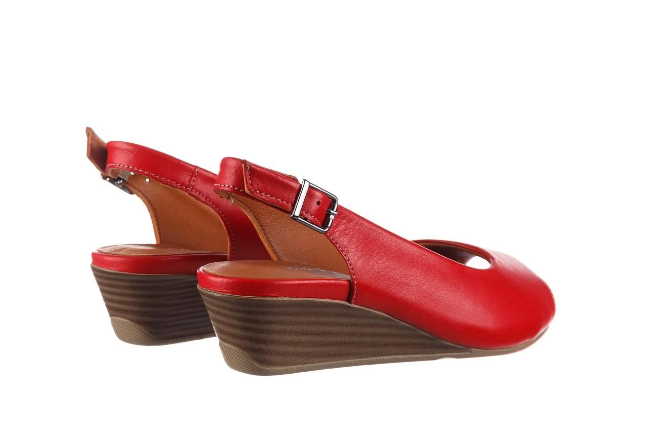 Sandały bayla-161 078 606 3 02 red, czerwony, skóra naturalna 11
