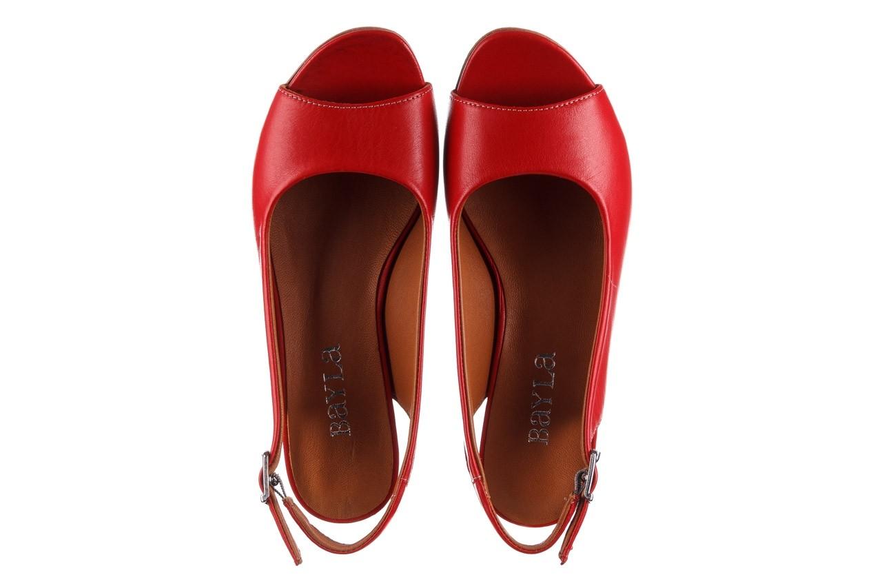 Sandały bayla-161 078 606 3 02 red, czerwony, skóra naturalna 12