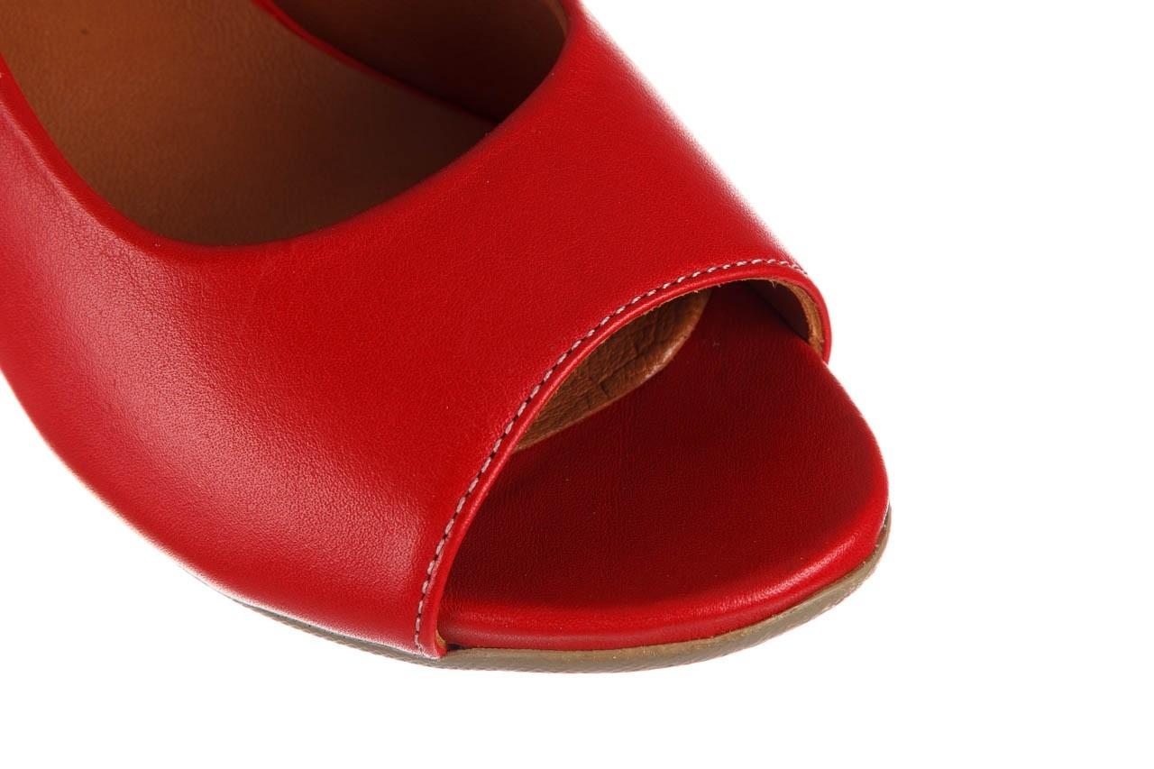 Sandały bayla-161 078 606 3 02 red, czerwony, skóra naturalna 13