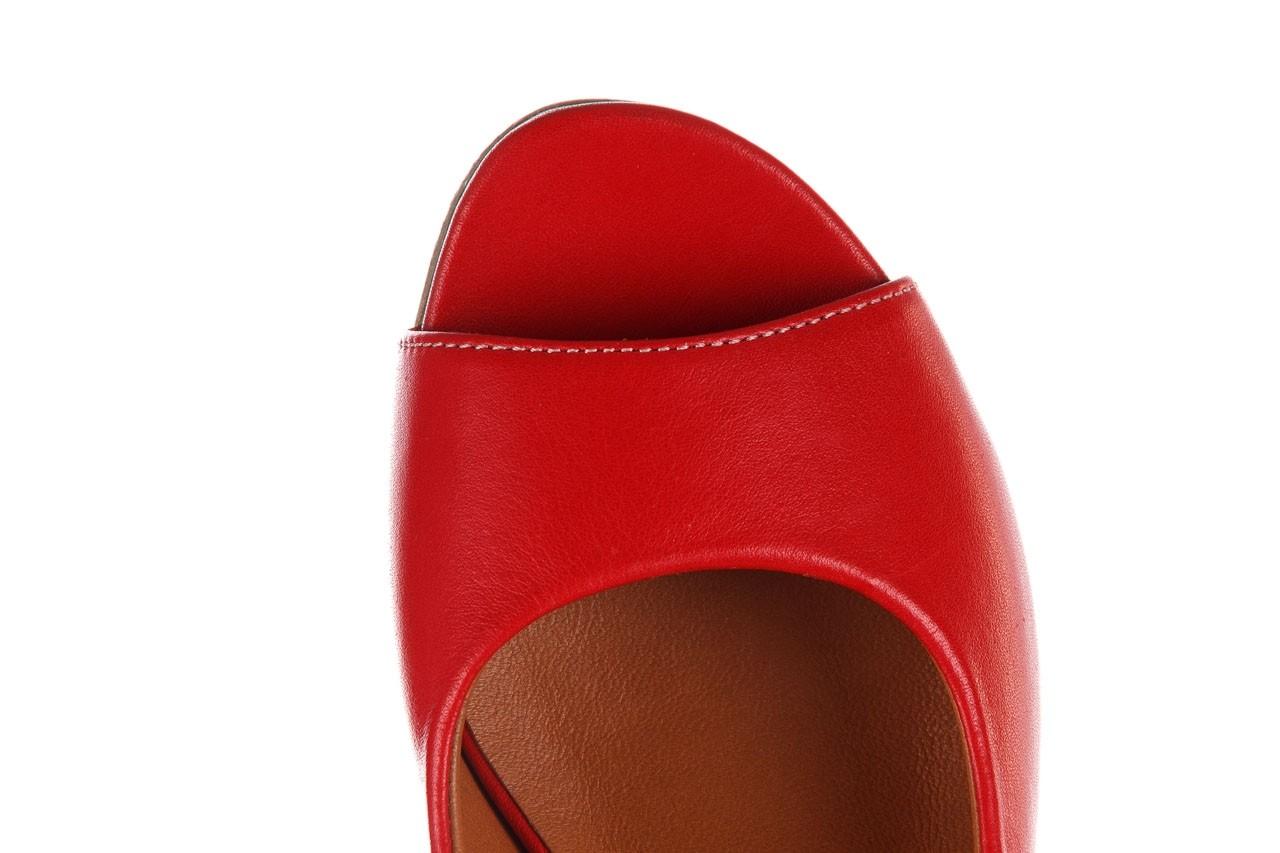 Sandały bayla-161 078 606 3 02 red, czerwony, skóra naturalna 14