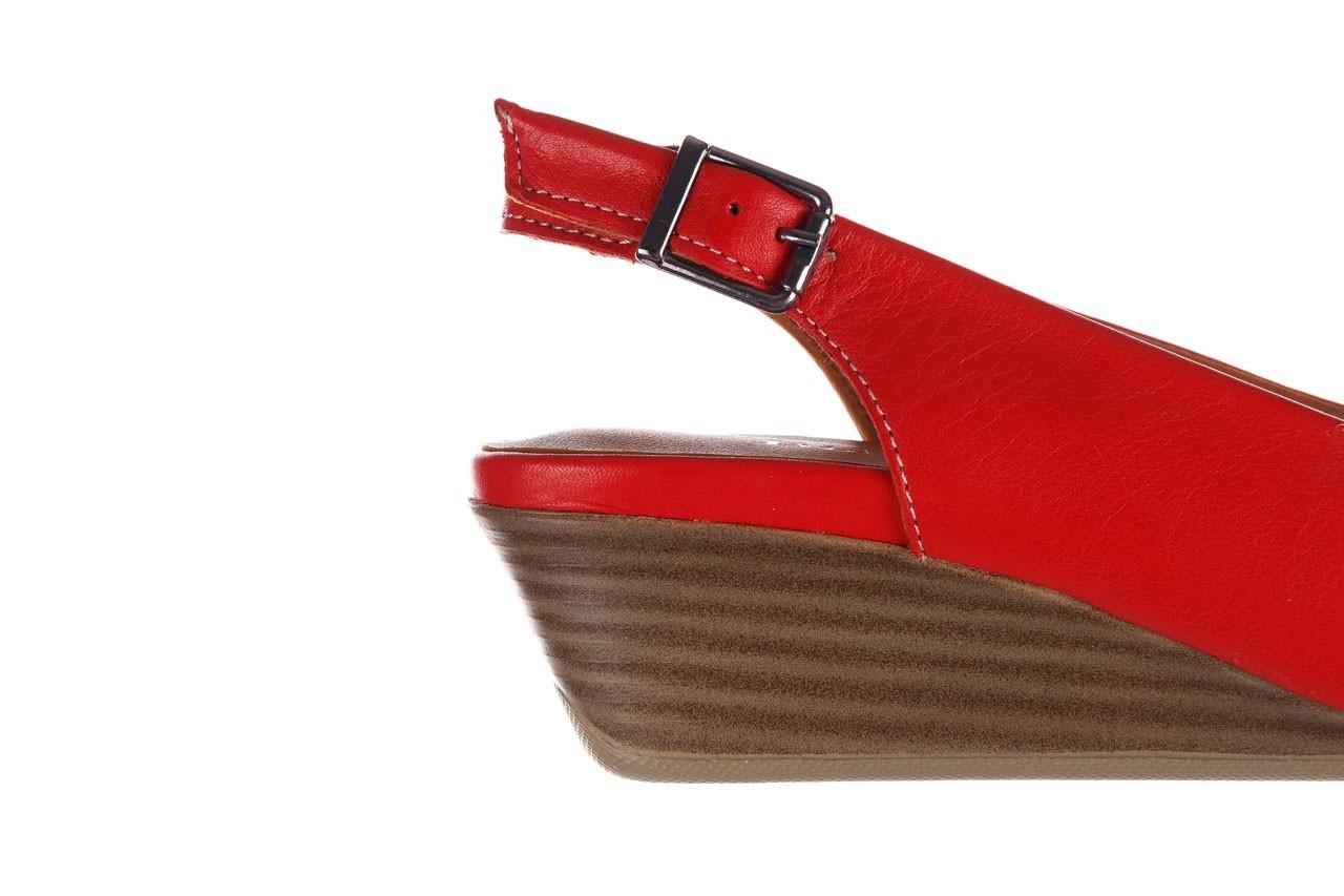 Sandały bayla-161 078 606 3 02 red, czerwony, skóra naturalna 15