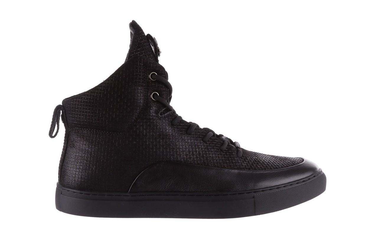 Sneakersy john doubare m7961-1 black, czarny, skóra naturalna  - brooman - nasze marki 9