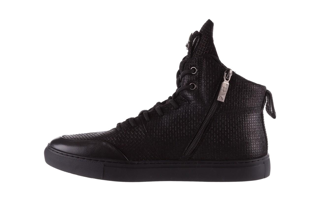Sneakersy john doubare m7961-1 black, czarny, skóra naturalna  - brooman - nasze marki 11