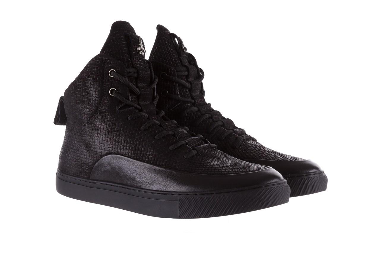 Sneakersy john doubare m7961-1 black, czarny, skóra naturalna  - brooman - nasze marki 10