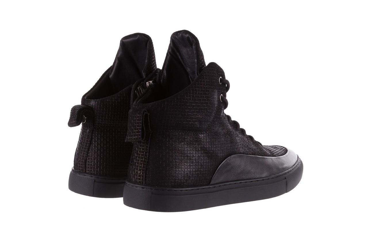 Sneakersy john doubare m7961-1 black, czarny, skóra naturalna  - brooman - nasze marki 12