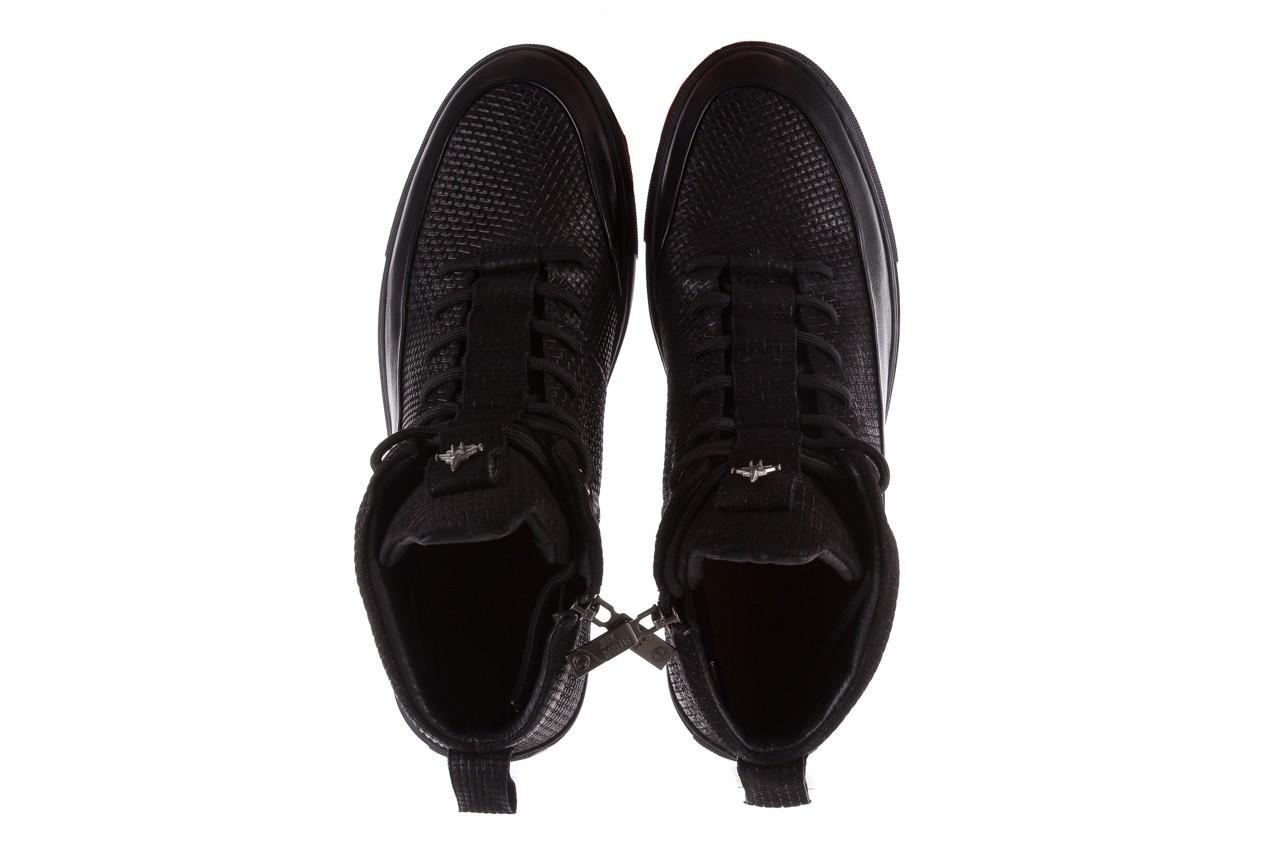 Sneakersy john doubare m7961-1 black, czarny, skóra naturalna  - brooman - nasze marki 13