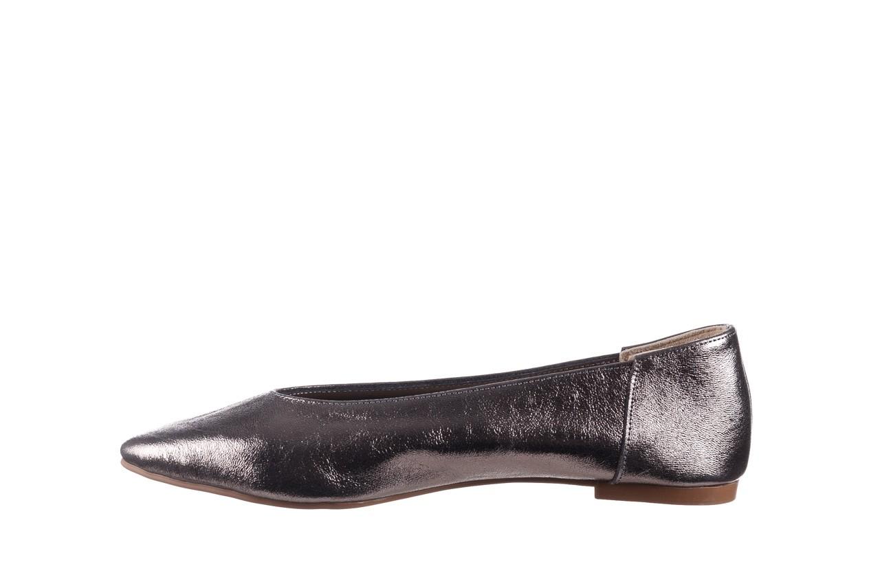 Baleriny bayla-161 093 388 4010 platino, srebrny, skóra naturalna 9