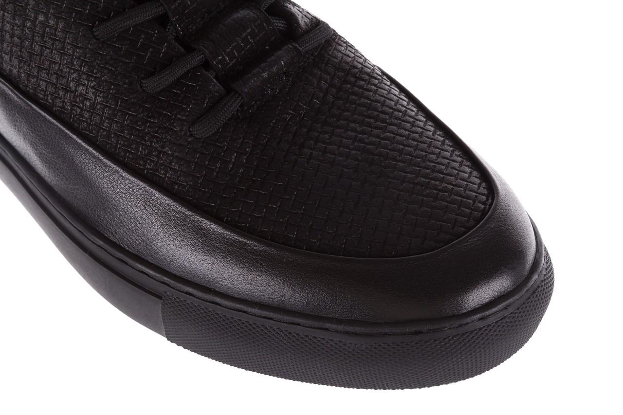 Sneakersy john doubare m7961-1 black, czarny, skóra naturalna  - brooman - nasze marki 14