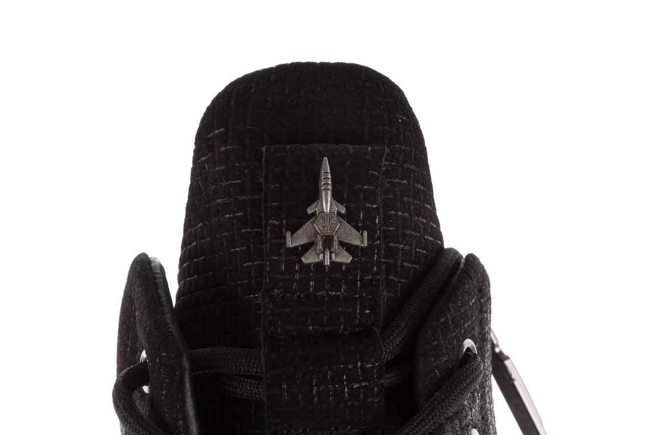 Sneakersy john doubare m7961-1 black, czarny, skóra naturalna  - brooman - nasze marki 17